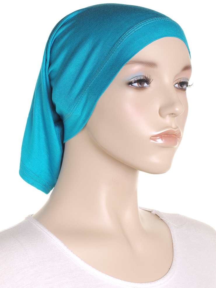 Moroccan Teal Stretch Tube Underscarf - Hijab Store Online