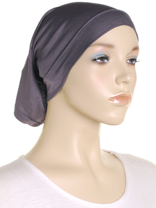 Slate Grey Stretch Tube Underscarf