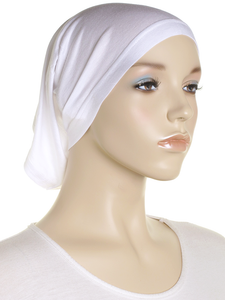White Stretch Tube Underscarf