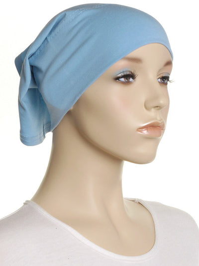 Blue Plain Cotton Tube Underscarf - Hijab Store Online