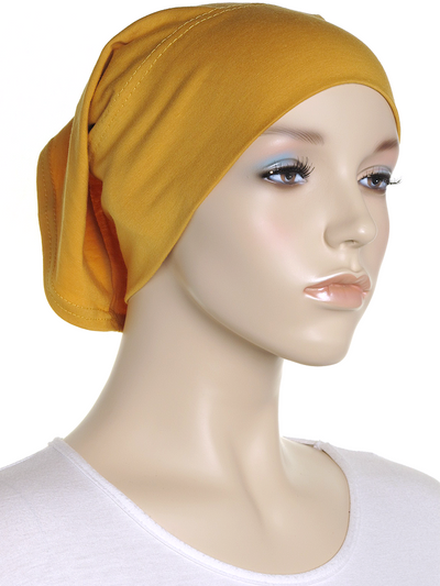 Butterscotch Plain Cotton Tube Underscarf - Hijab Store Online