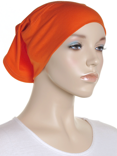 Carrot Orange Plain Cotton Tube Underscarf - Hijab Store Online