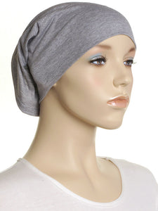 Grey Marl Plain Cotton Tube Underscarf