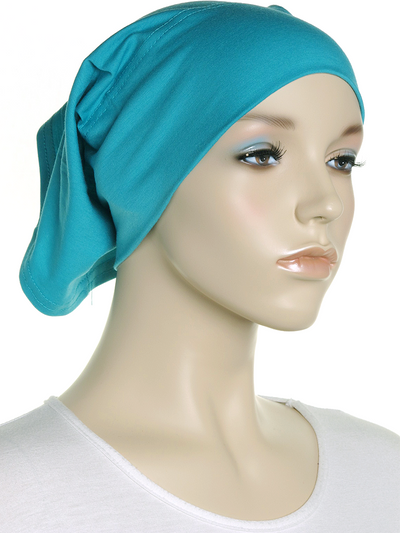 Light Teal Plain Cotton Tube Underscarf - Hijab Store Online