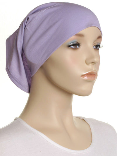 Lilac Plain Cotton Tube Underscarf - Hijab Store Online