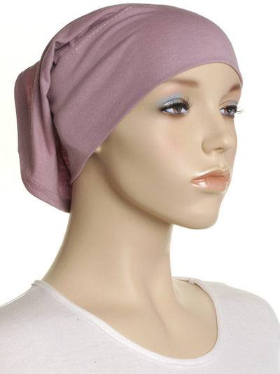 Lil Pink Plain Cotton Tube Underscarf - Hijab Store Online