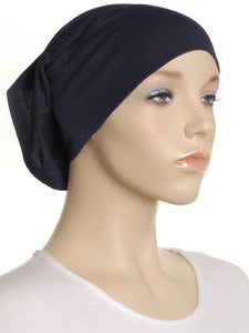 Navy Plain Cotton Tube Underscarf