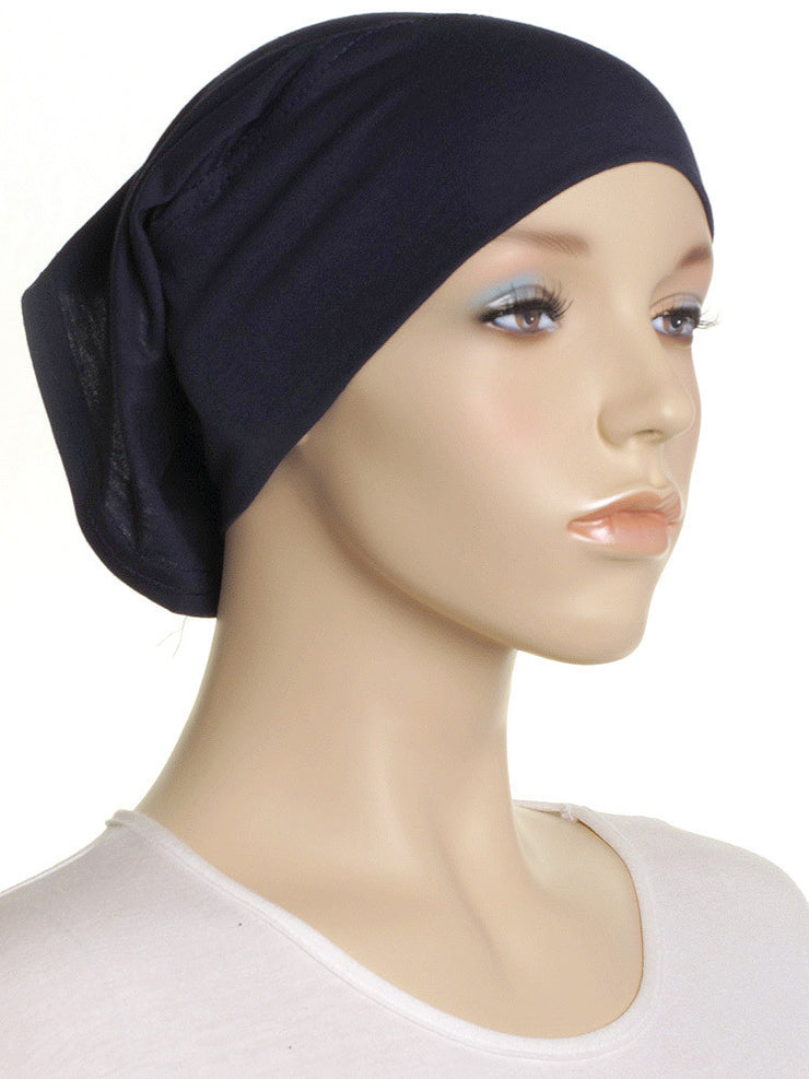 Navy Plain Cotton Tube Underscarf - Hijab Store Online