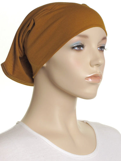 Ochre Plain Cotton Tube Underscarf - Hijab Store Online