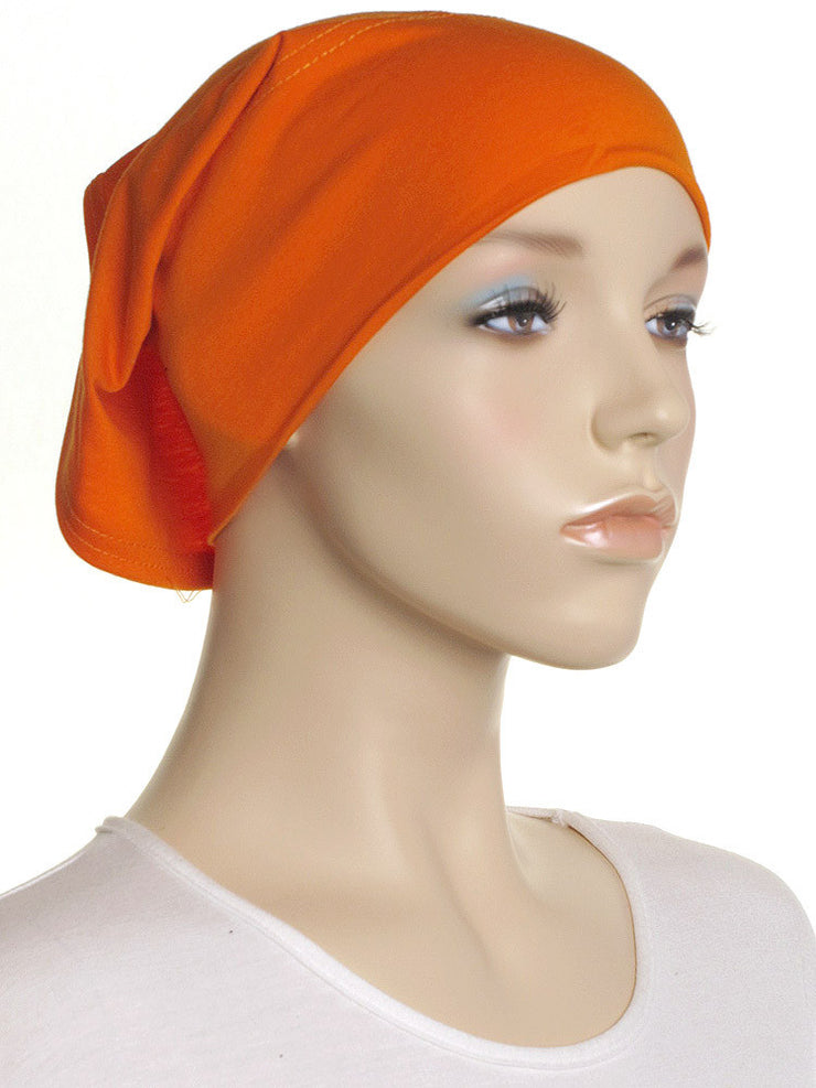 Orange Plain Cotton Tube Underscarf - Hijab Store Online