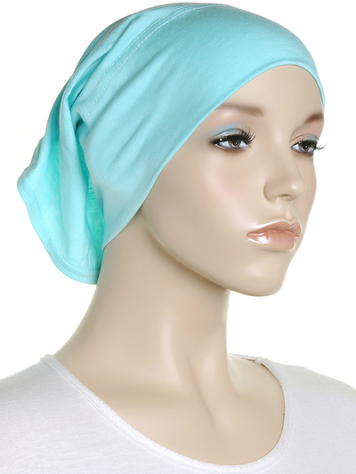 Pale Aqua Blue Plain Cotton Tube Underscarf - Hijab Store Online