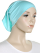 Pale Aqua Blue Plain Cotton Tube Underscarf