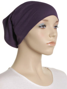 Purple Plain Cotton Tube Underscarf
