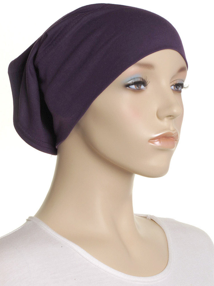 Purple Plain Cotton Tube Underscarf - Hijab Store Online