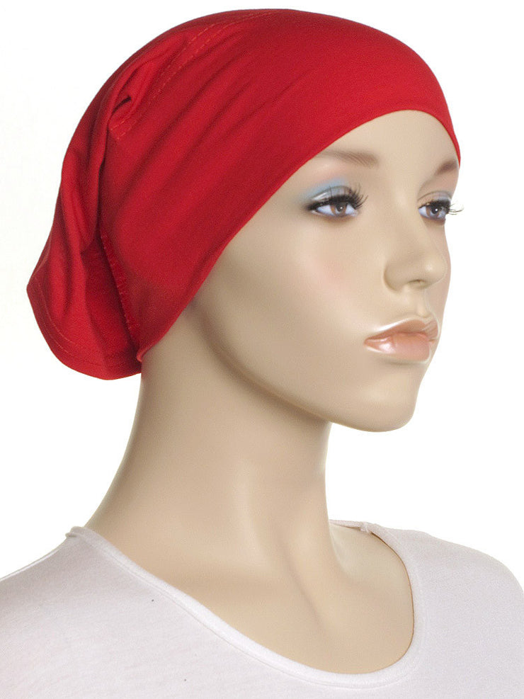 Red Plain Cotton Tube Underscarf - Hijab Store Online