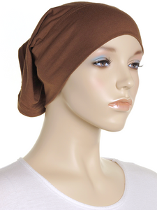 Spice Brown Plain Cotton Tube Underscarf
