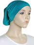 Teal Green Plain Cotton Tube Underscarf