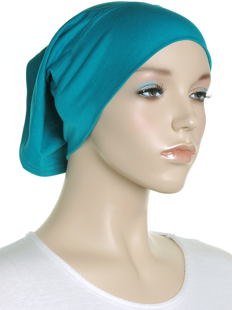 Teal Green Plain Cotton Tube Underscarf - Hijab Store Online