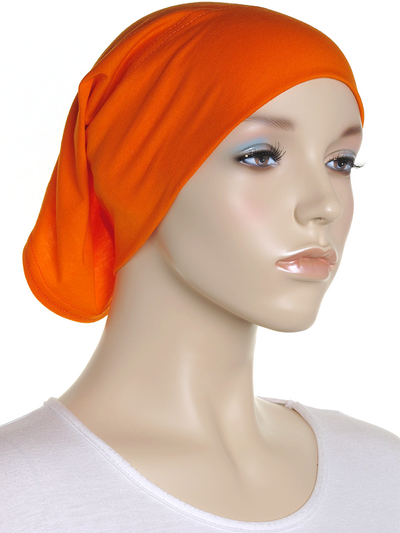 Tiger Orange Plain Cotton Tube Underscarf - Hijab Store Online