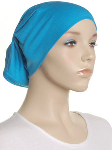 Turquoise Plain Cotton Tube Underscarf