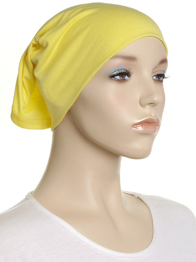 Yellow Plain Cotton Tube Underscarf - Hijab Store Online
