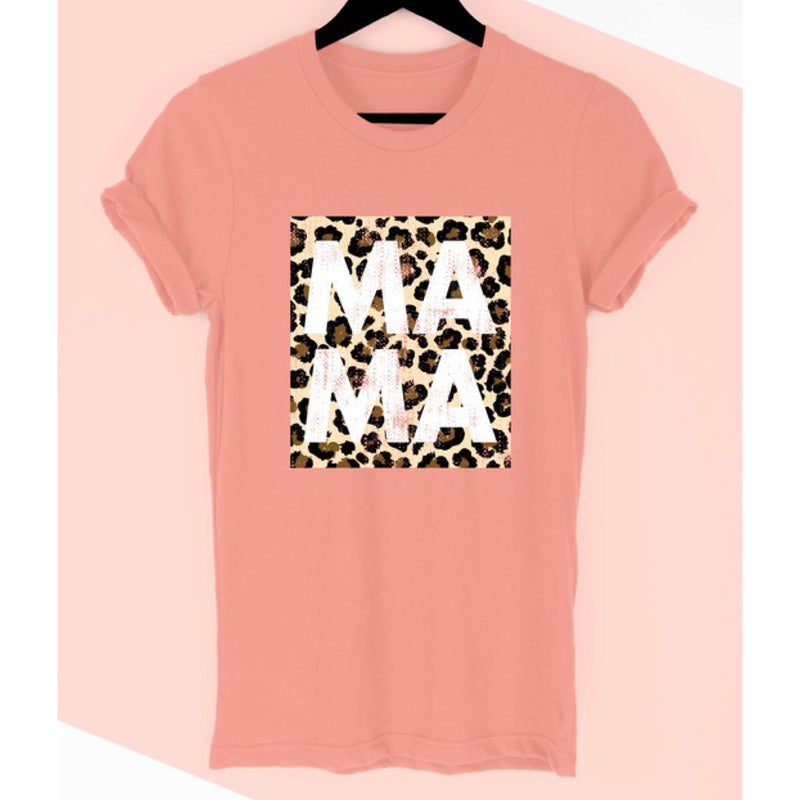 Leopard Mama Graphic Print Tee