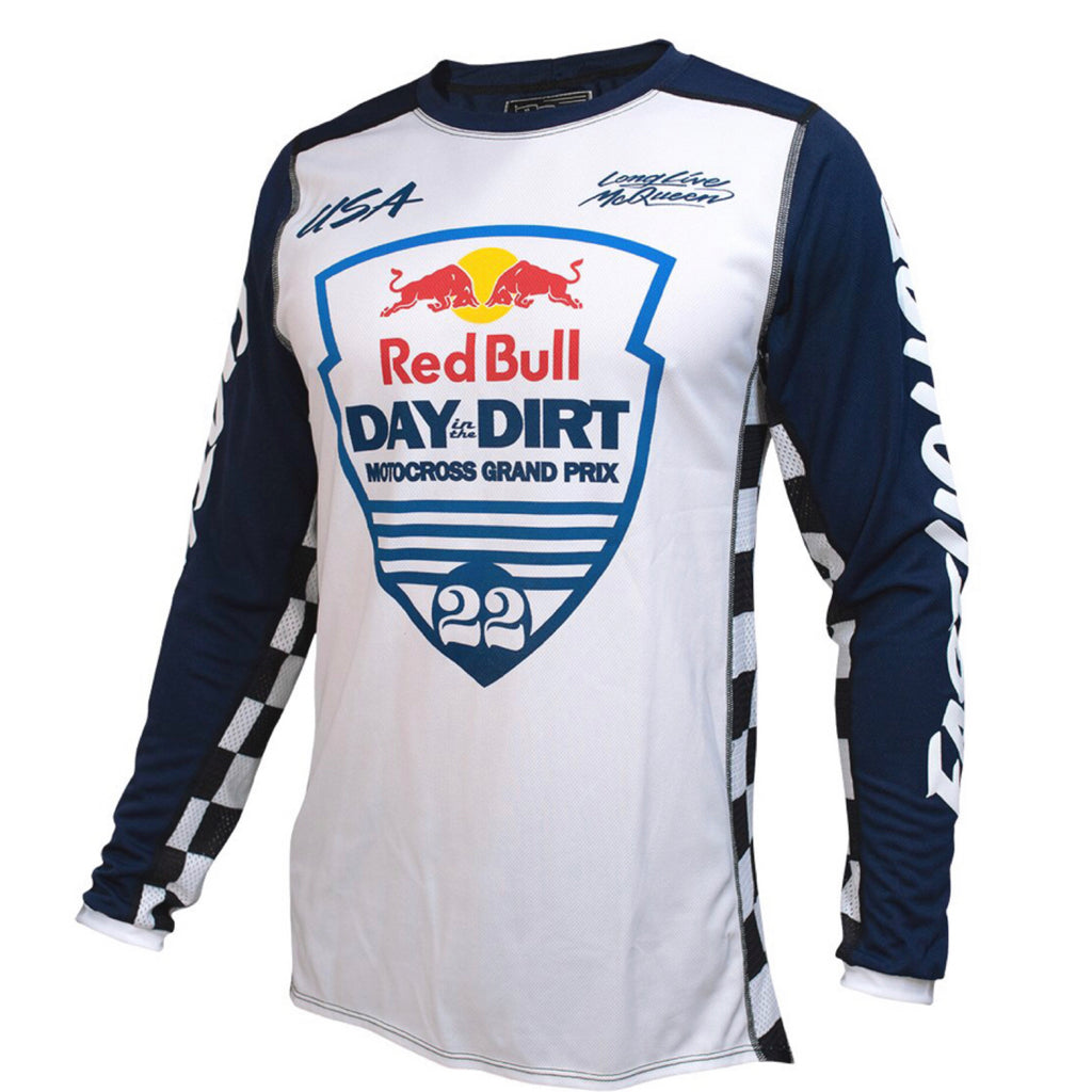 Red Bull in the dirt 22 Jersey white/navy