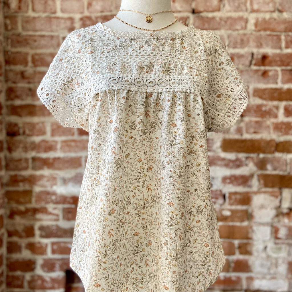 Felicity Floral Eyelet Top
