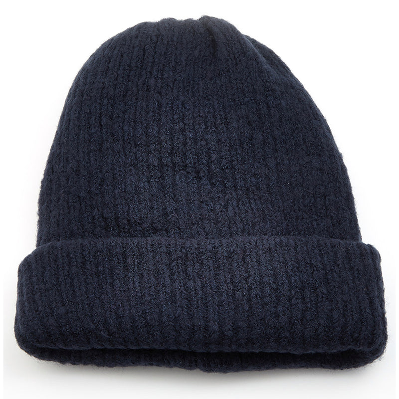 Ribbed Knit Winter Fashion Beanie Black