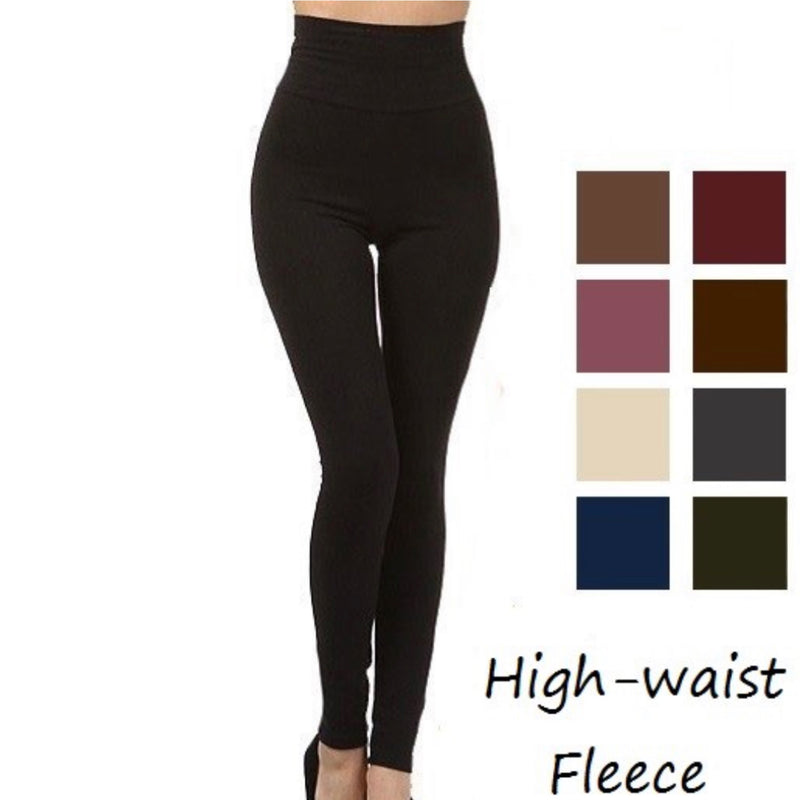 LEG950 Stomach Control Fleece Leggings