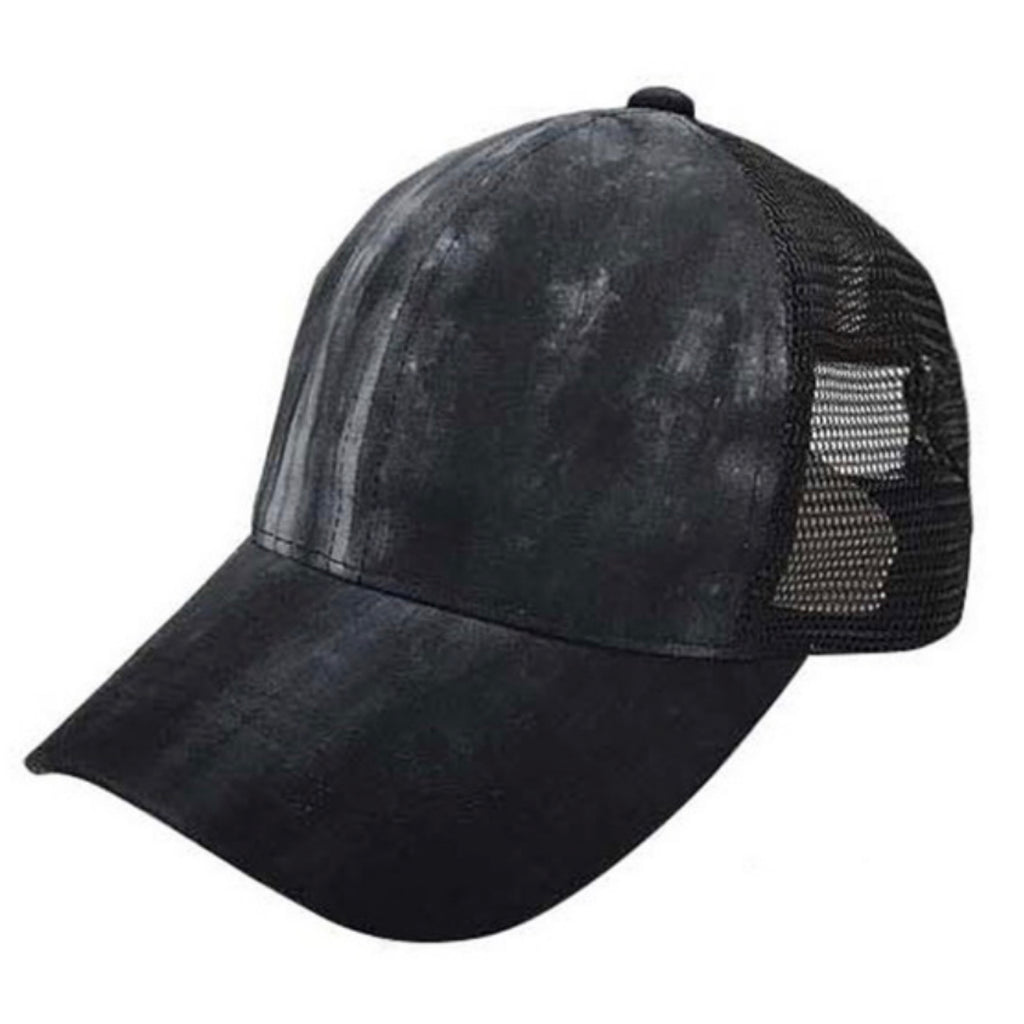 BT-5 C.C Ponytail Tie Dye Baseball Cap Black