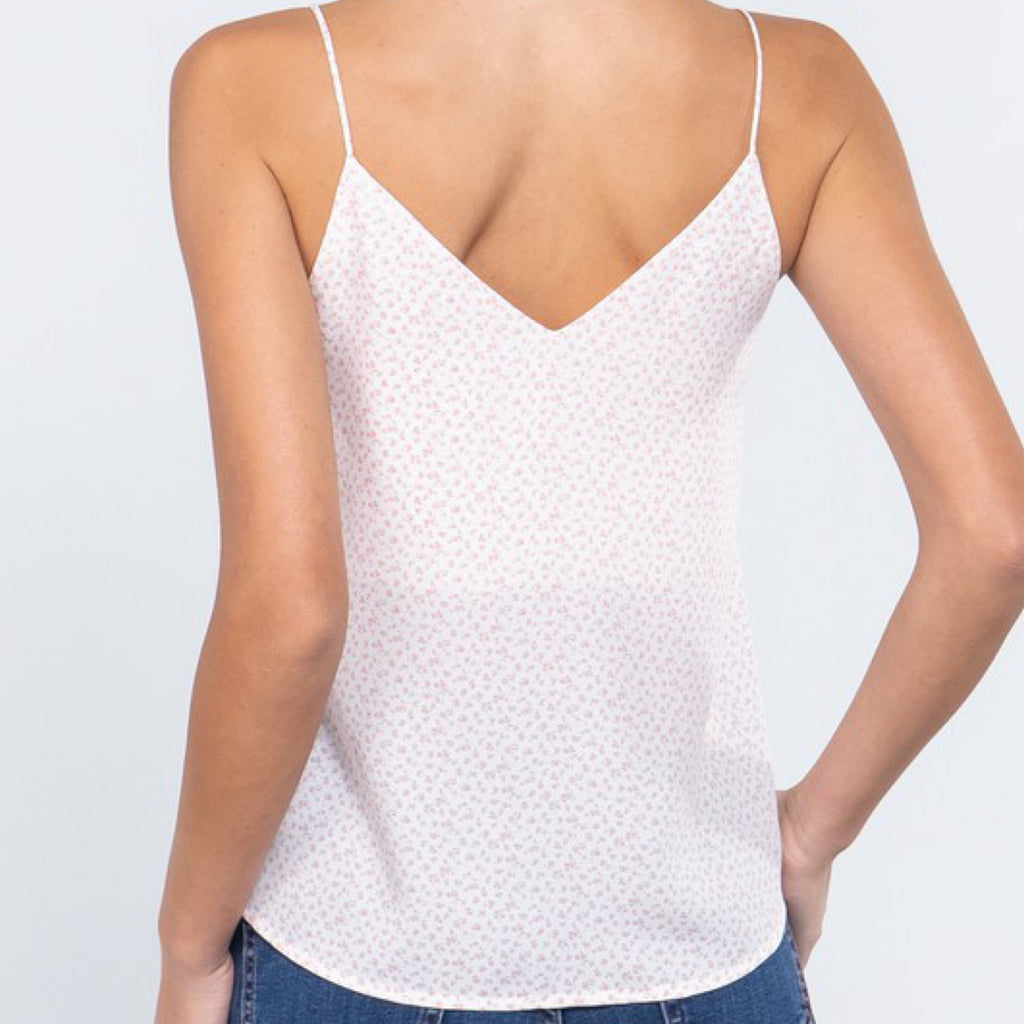 Hadleigh Double V Neck Top Ivory