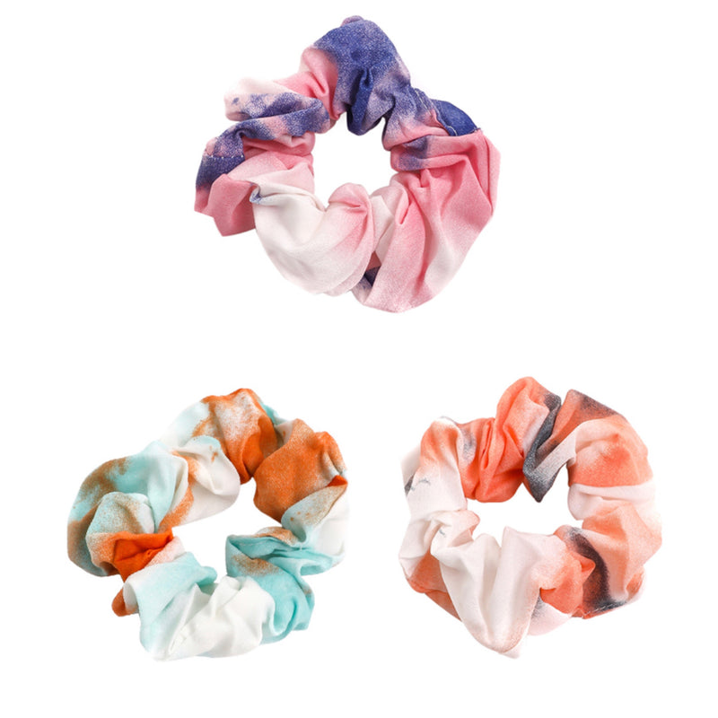 Tie Dye Three Piece Hair Scrunchies Set