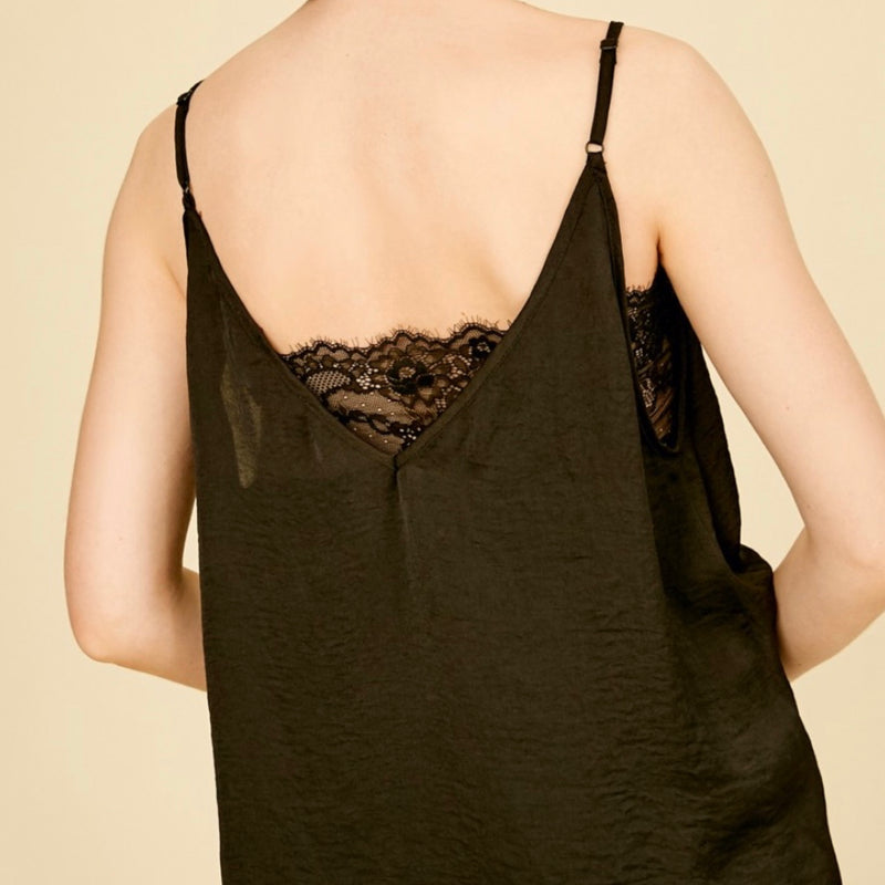 LCM0023 Deep V Neck Top With Lace Bandeau