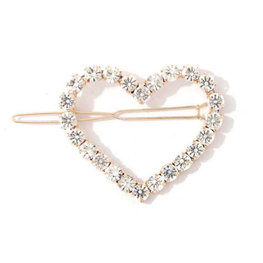 71825 HEART SHAPE RHINESTONE HAIRPIN