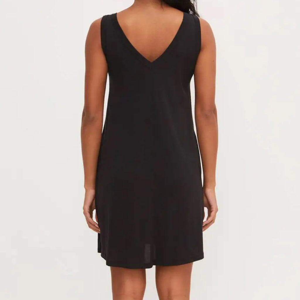 Constance Tank Dress With Pockets Black