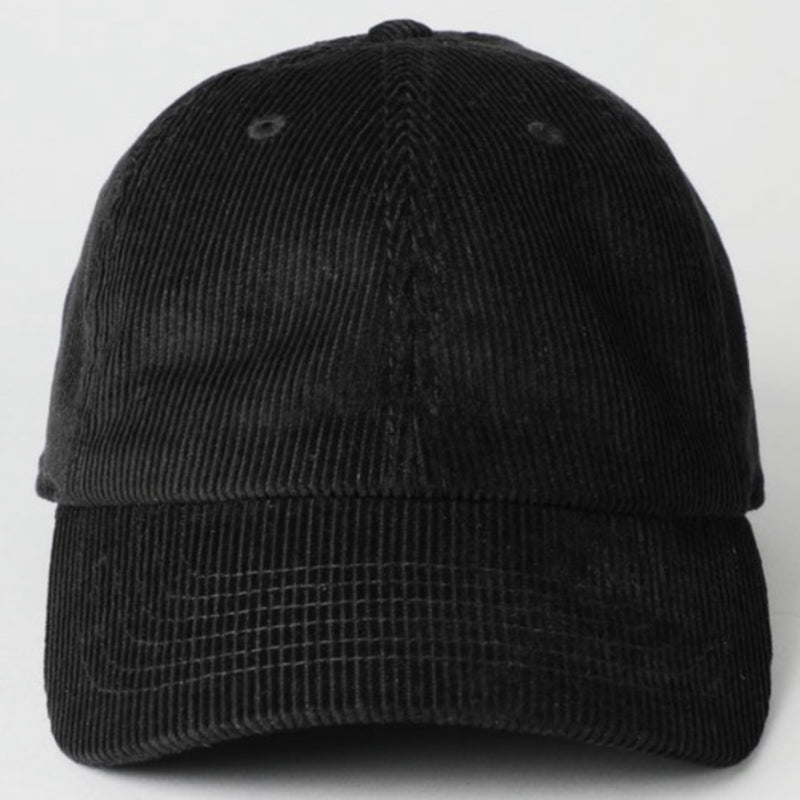 Corduroy Dad Hat Black