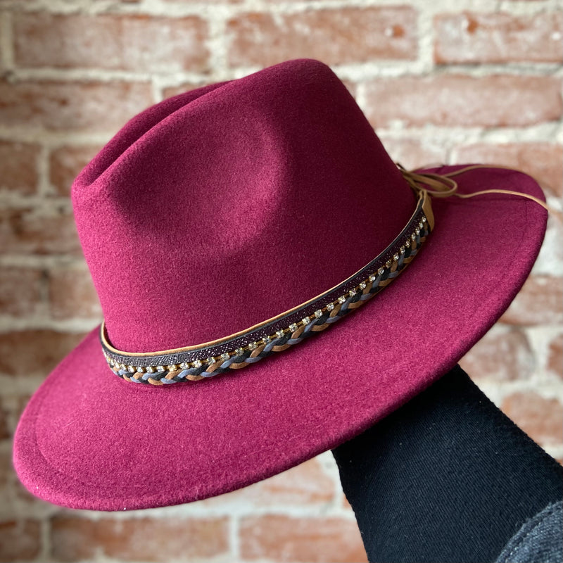 Dandy Brim Hat Burgundy