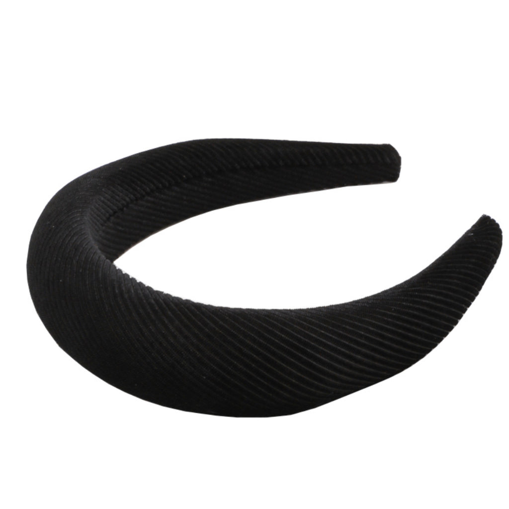 MMH7433-BK Soft Ribbed Headband