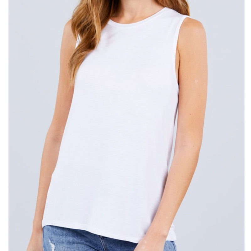 T11538 Bailey Crew Neck Tank Top