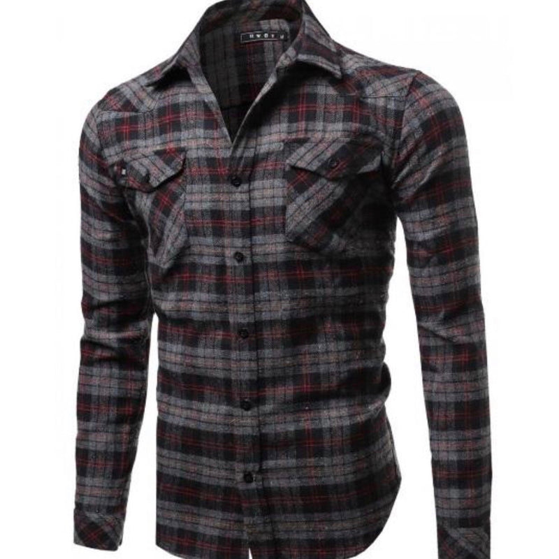 JR-6/001 CHARCOAL / RED FLANNEL