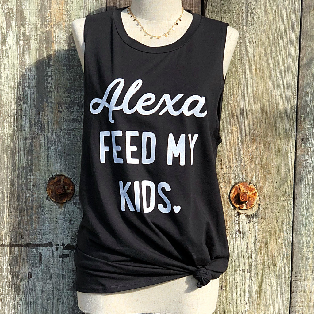 F332 ALEXA FEED MY KIDS TANK TOP