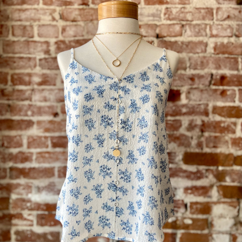 Finley Floral Top Blue