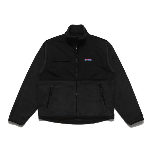 NYLON FLEECE JACKET - BLACK