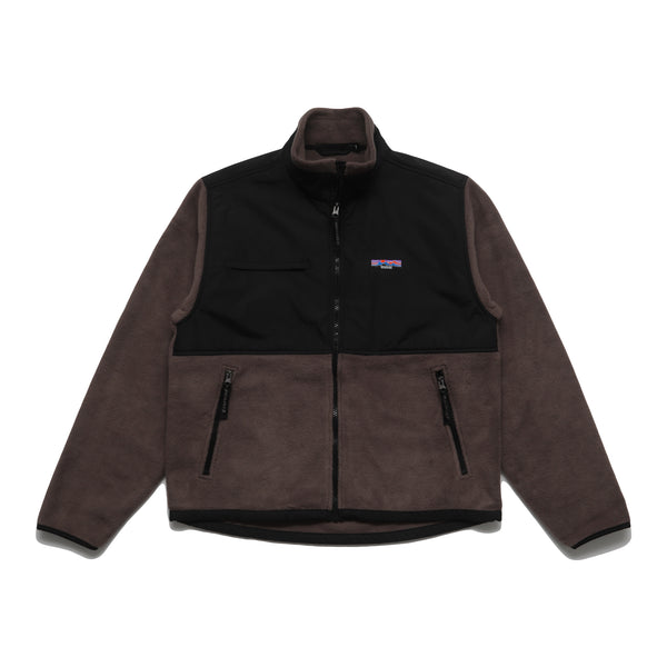 NYLON FLEECE JACKET - BROWN