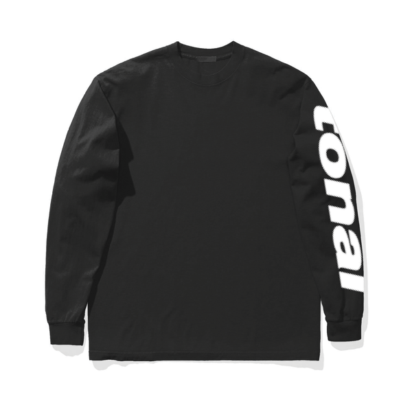 CYRILLIC L/S T-SHIRT - BLACK