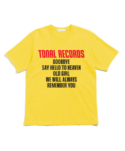 GOODBYE S/S T-SHIRT YELLOW