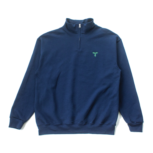 LAUREL QUARTER-ZIP SWEATSHIRT - NAVY