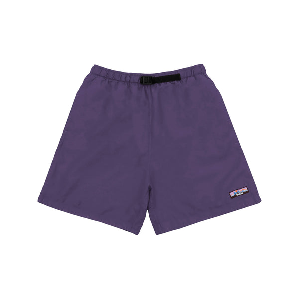 NYLON OVERDYED SHORTS ROYAL PURPLE