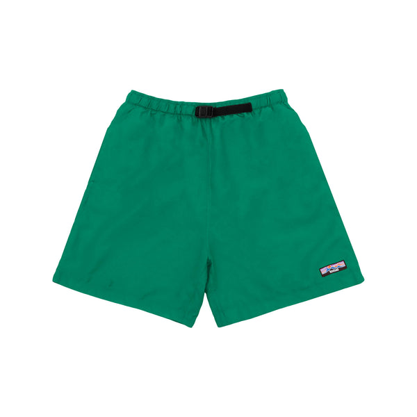 NYLON OVERDYED SHORTS JADE GREEN